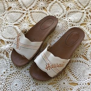 Size 5 Vntg HAWAII Souvenir Sandals Plastic Slides